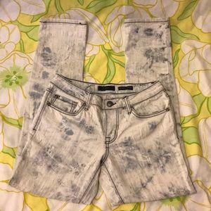 Jessica Simpson acid wash skinny jeans low rise